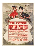 The Pastime moving picture show Fine Art Print