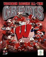 University of Wisconsin Badgers All Time Greats Composite Fine Art Print