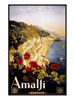 Amalfi, travel poster Framed Print
