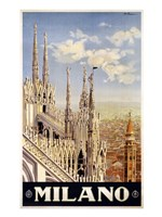 Milano Travel Poster Fine Art Print