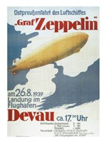Zeppelin in Devau 1939 Fine Art Print