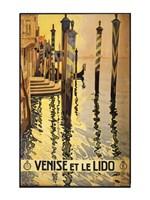 Venise et le Lido travel poster 1920 Fine Art Print