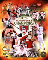 St. Louis Cardinals 2011 World Series Champions PF Gold Composite Fine Art Print