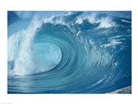 Close-up of waves in the sea in turquoise Framed Print