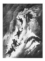 Matterhorn disaster Gustav Dore Fine Art Print