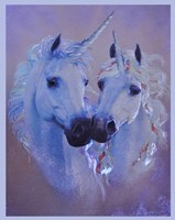 Unicorn Lovers Framed Print