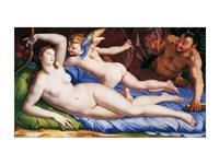 Bronzino Venus, Cupido and Satyr Fine Art Print
