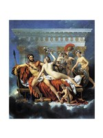 Jacques - Louis David Aphrodite Ares Graces Fine Art Print