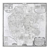 1676 Plan de Bullet et Blondel Fine Art Print