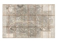1797 Jean Map of Paris and the Faubourgs, France Fine Art Print
