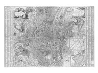 Jaillot map of Paris 1762 Fine Art Print