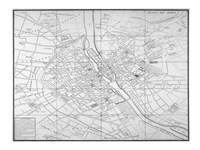 Paris map circe 1739 Fine Art Print