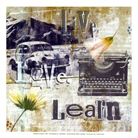Live Love Learn - mini Fine Art Print