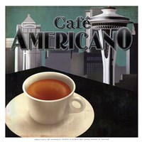 Cafe Americano - mini Framed Print
