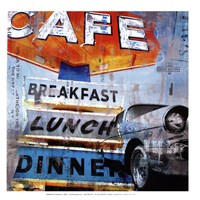 Breakfast Cafe - mini Fine Art Print
