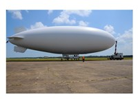 US Navy Coast Guard Blimp Fine Art Print