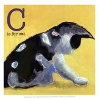 C is for Cat - mini Fine Art Print