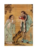 Confucius Laozi Buddha Framed Print