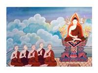 Paintings of Life of Gautama Buddha Fine Art Print