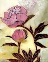 Pink Peony Blossom and Bud Fine Art Print