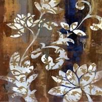 Moonlight Magnolia Silhouette I Framed Print
