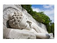 Statue of reclining Buddha, Long Son Pagoda, Nha Trang, Vietnam Fine Art Print