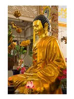 Statue of Buddha in a Temple, Long Son Pagoda, Nha Trang, Vietnam Framed Print