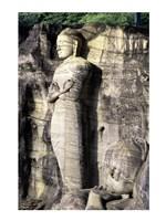 Statues of Buddha carved in rocks, Gal Vihara, Polonnaruwa, Sri Lanka Framed Print