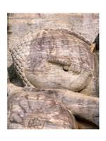 Reclining Buddha Closeup Framed Print