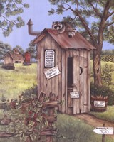 Outhouse - Raccoon Framed Print