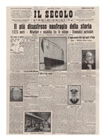 Italian Front Page about the Titanic Disaster Fine Art Print