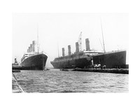 Olympic and Titanic Framed Print