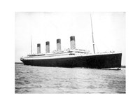 Titanic B&W Framed Print