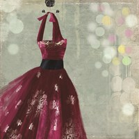 Fuschia Dress II Fine Art Print