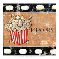 Popcorn and Treats - mini Fine Art Print