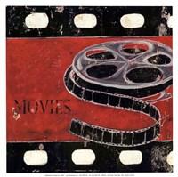Movie clips - mini Framed Print