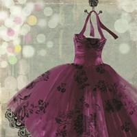 Fuschia Dress I Framed Print