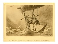Gondola of the P II Reporting Arrival of a Wright flyer Fine Art Print