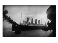Titanic Leaving Harbor Framed Print