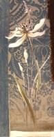 Fancy Floral On Blue II Fine Art Print