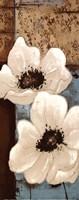 White Poppies Panel I Fine Art Print