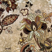 European Floral on Beige II Fine Art Print