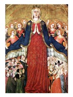 Madonna with angels Fine Art Print