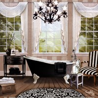 Chandelier Bath I Fine Art Print
