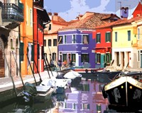 Burano Village Fine Art Print
