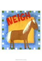 Neigh Framed Print