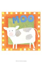 Moo Framed Print