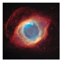 The Helix Nebula: a Gaseous Envelope Expelled By a Dying Star Fine Art Print