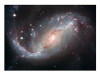 Galaxy's Star Forming Clouds and Dark Bands of Interstellar Dust Fine Art Print