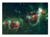 The Heart and Soul Nebulae Fine Art Print